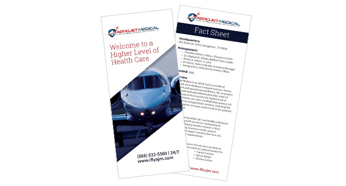 trifold brochure and fact sheet