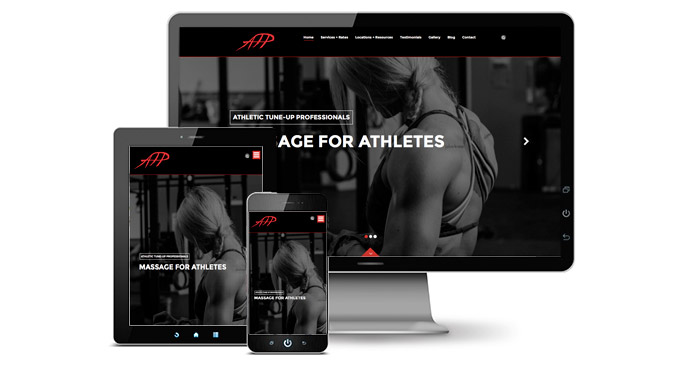 athletic massage website design and development